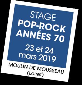 Stage Pop Rock 2019 - A vous de jouerpRockAnnees70