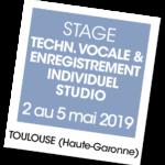 Stage enregistrement studio 2019 - A vous de jouer