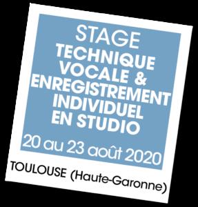 Stage technique vocale et enregistrement individuel en studio - A vous de jouer