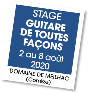 Stage Guitare de toutes façons - A vous de jouer