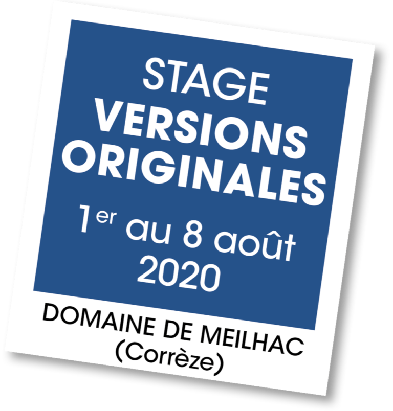 Stage Versions Originales - A vous de jouer