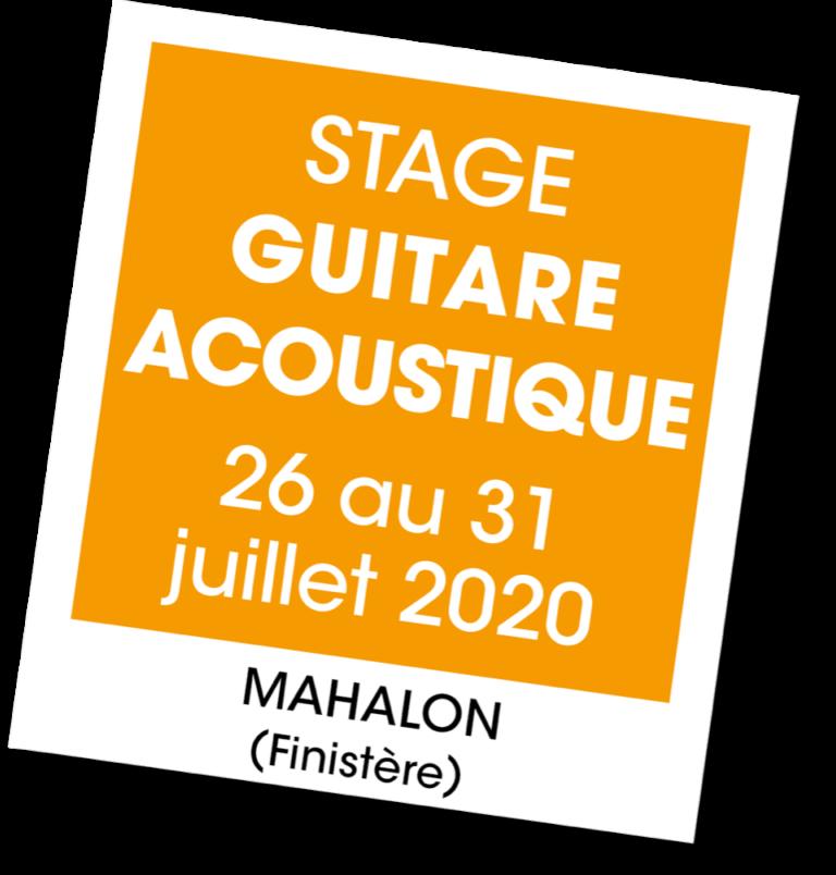Stage de guitare acoustique - A vous de jouer