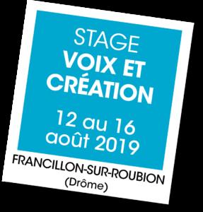 Stage Voix et Création - A vous de jouer