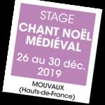 20191226 – Stage Chants pour un Noël médiéval – décembre 2019