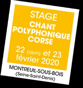 Stage de Chant polyphonique de Corse - A vous de jouer