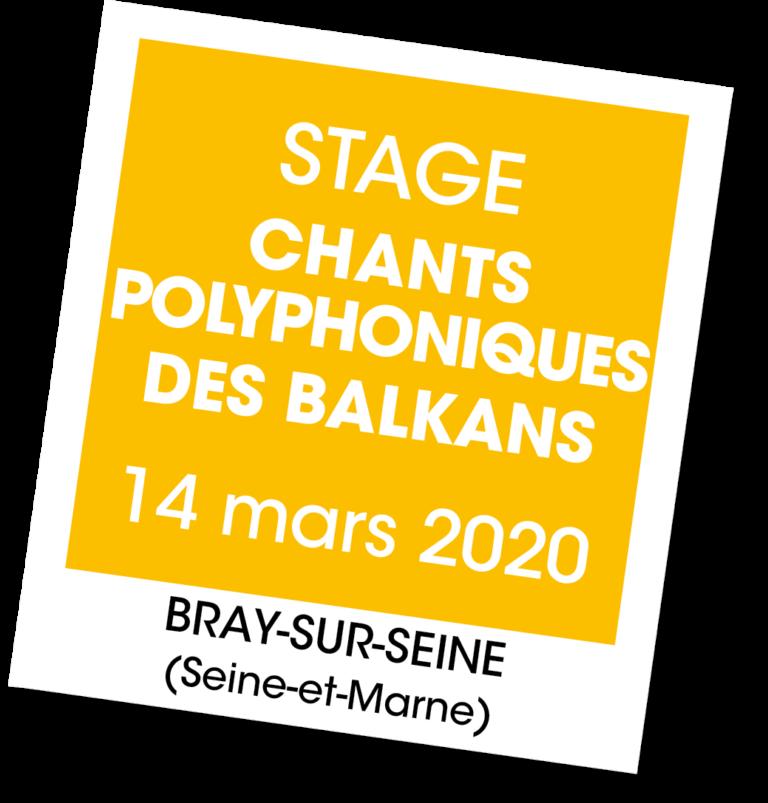 Stage chants polyphoniques des balkans - A vous de jouer