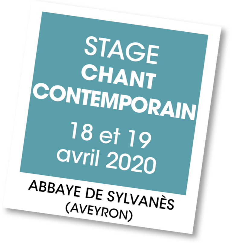 Stage de Chant Contemporain