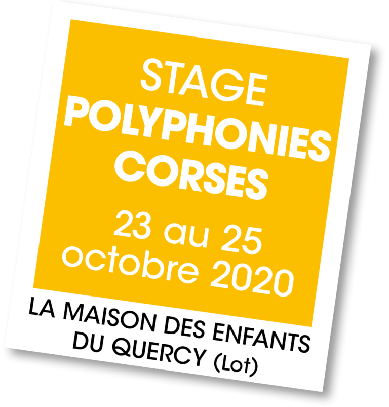 Stage Polyphonies Corses 2020